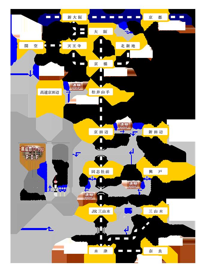 公共交通機関地図